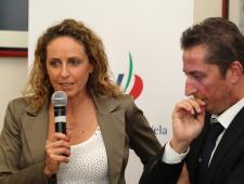 Alessandra Sensini e Francesco Ettorre (vice Presidente FIV)