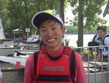 Teo Ryan Tee Kang (SIN 111) vincitore della flotta maschile Optimist 2013 in Ungheria